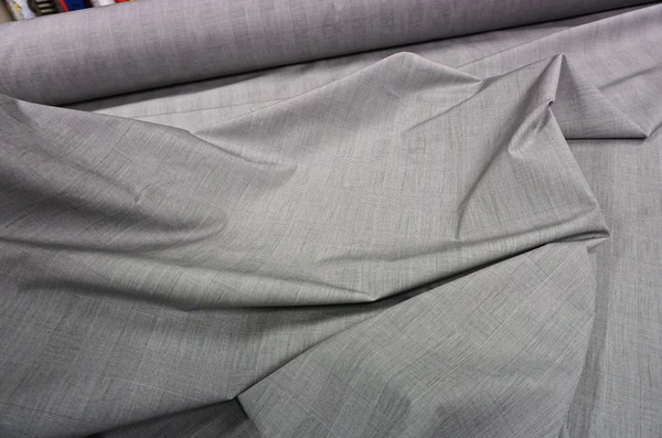 Super Fine Check Cotton Poplin, Greyscale