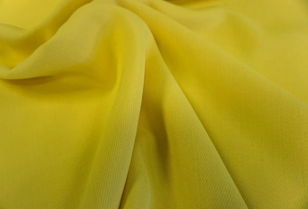 Double Cloth crepe Gaberdine, Yellow