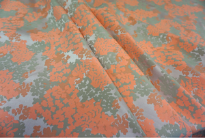 Fluro Orange Satin Jacquard Suiting