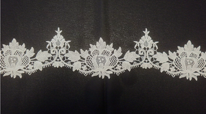 Guipure Lace Trim, Ivory