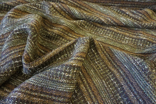 Khaki Stripe Tweed Bouclè Suiting