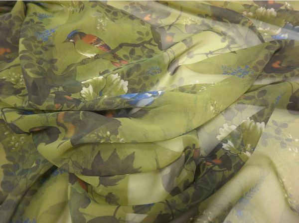 In the Woods Printed Chiffon