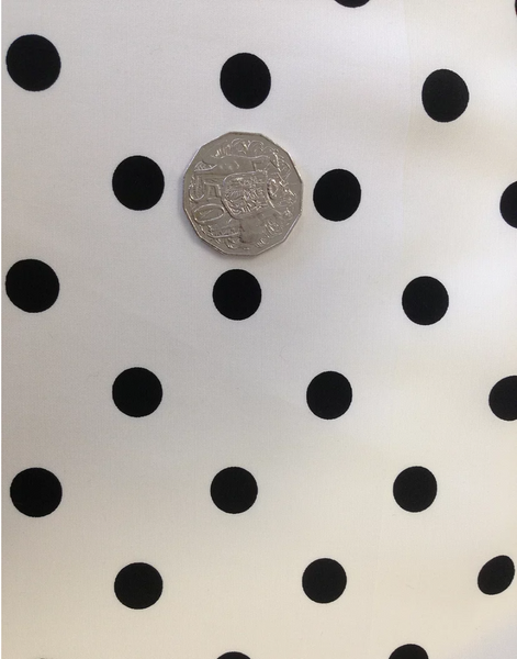 Black On White Polka Dot Poplin