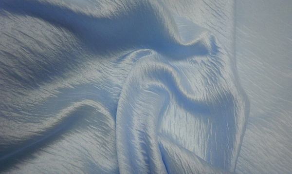 Lightweight Powder Blue Cloque Satin