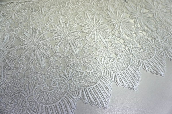 French Guipure Lace, Off White