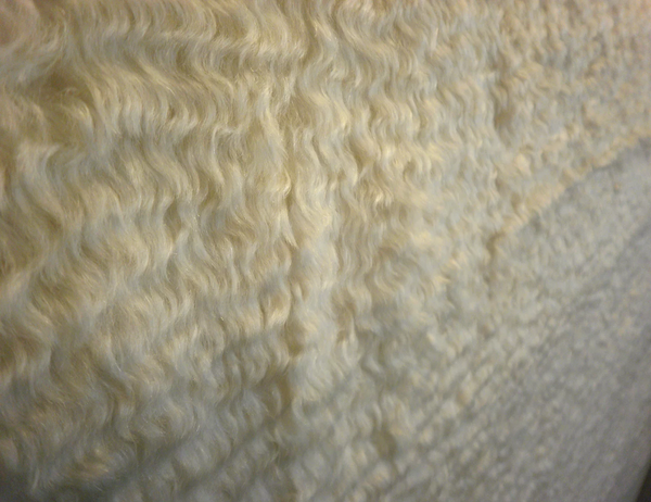 Shearling Look, Long Mohair Coating, Ivory Cream