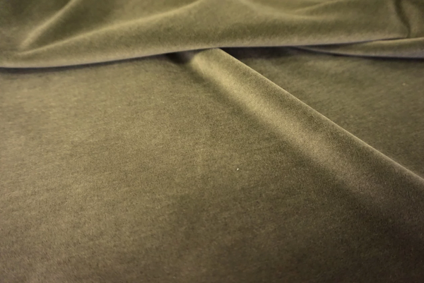 Avocado Green Cotton Velvet
