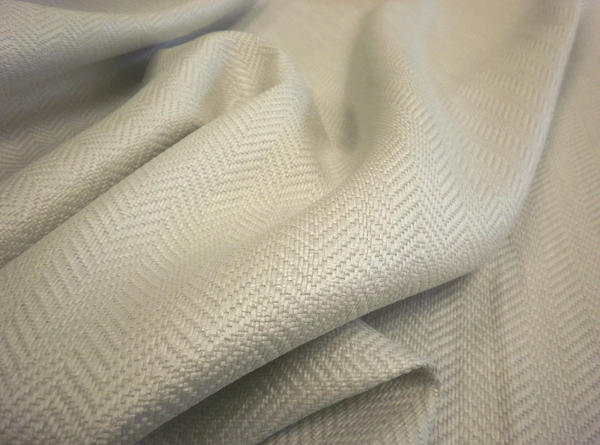 Lustrous Raffia Herringbone Suiting, Light Grey