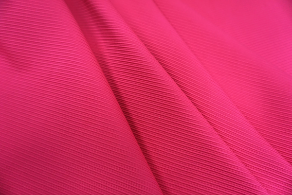 Bright Pink Ottoman Rib Suiting