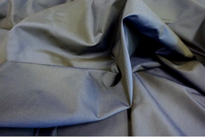 Blue Black Shot Silk Poplin