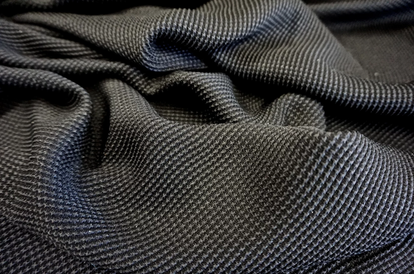 Pure Silk Stretch Jacquard Black