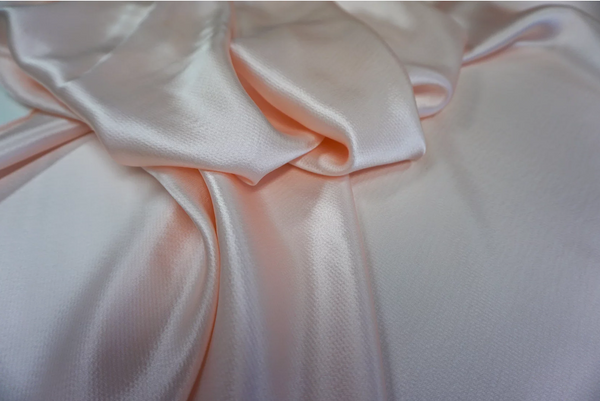 Pale Pink Hammered Silk Satin