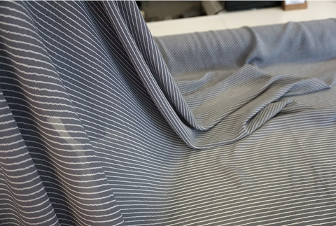 Diagonal Wavy Stripe Crepe, Dove Grey