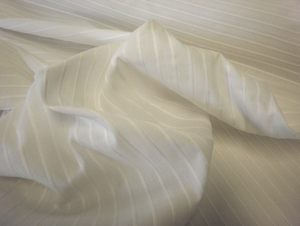 Pleat Fold White Cotton