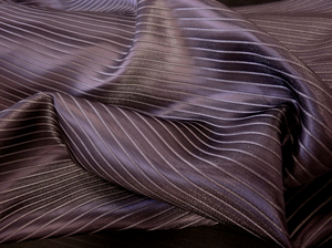 Satin Stripe Suiting , Deepest Plum