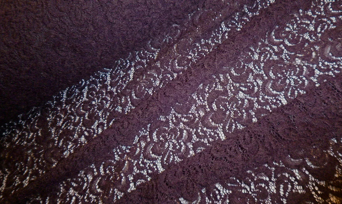 French Stretch Lace, Deepest Burgundy