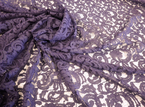 Very Wide Purple Italian Corded Lace