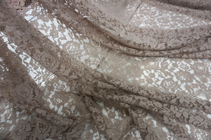Scalloped Corded Lace, Taupe