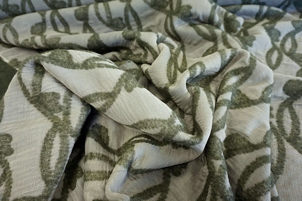 Double Cloth Interwoven Jacquard, Forest Green