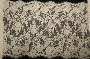 Beaded Corded Lace Trim, Double Scallop
