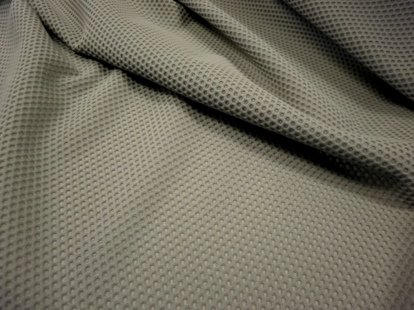 Honeycomb Pique Two-Way Stretch, Cool Grey
