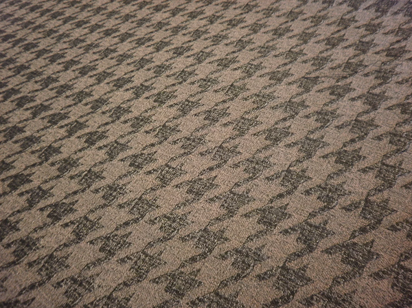 Wool Blend Houndstooth Jacquard, Mocha Brown