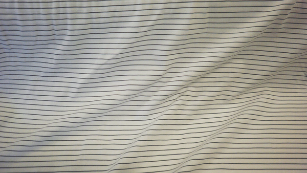 White & Navy Stripes Cotton Jersey