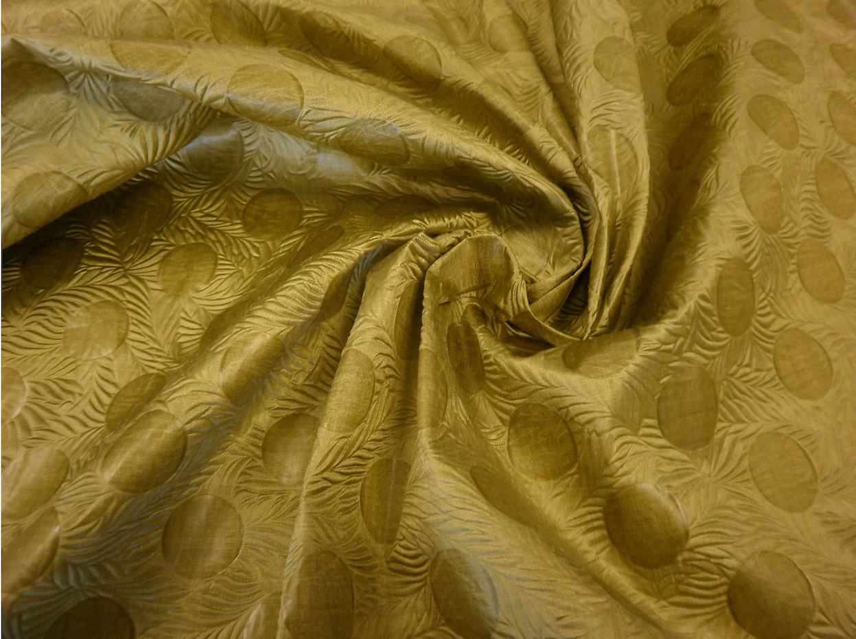 Embossed Taffeta, Golden Green