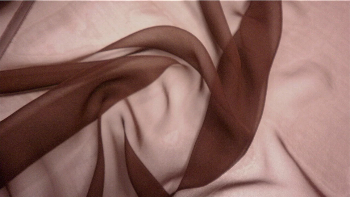 Chocolate Brown Silk Chiffon