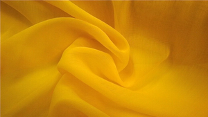 Silk Blend Voile Canary Yellow
