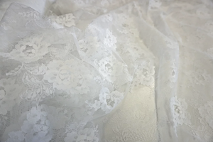 White Rose Scalloped Lace