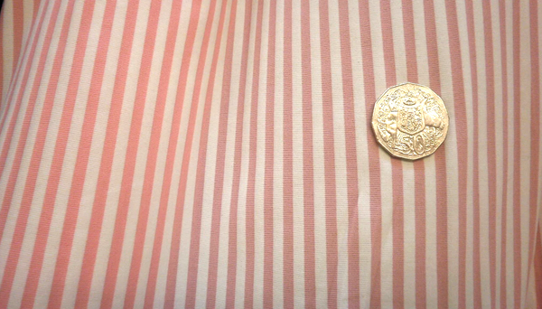 Pink & White Striped Lycra Jersey