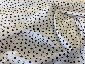 Black & White Scatter Box Print on Poplin