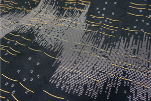 Matrix Crossing Jacquard, Yellow Lines