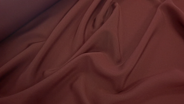 Crepe de Chine, Deep Burgundy