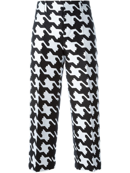Houndstooth Jacquard Cotton Suiting