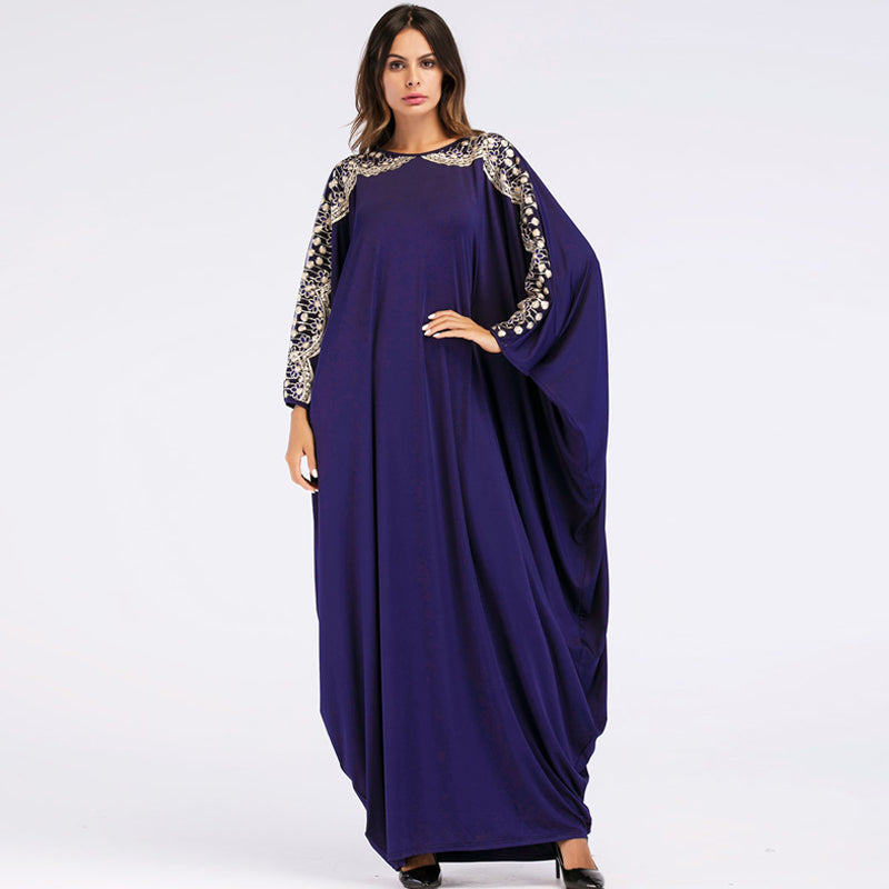 Plus size maxi dresses | Purple dress | Long sleeve dress | Dresspies