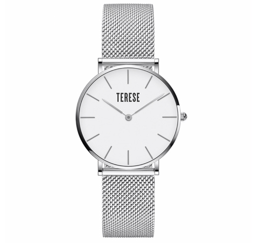 Silver stainless steel womens watch