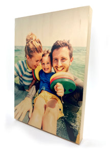Wooden Photo Block (Portrait)