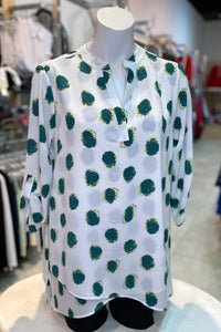 Green Dot Christine Blouse **Buy More, Save More SALE!**