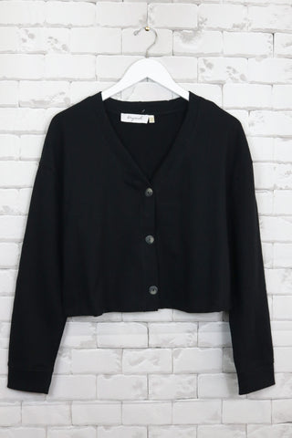 French Terry Cropped Cardigan (2 colours available) - NEW ARRIVAL