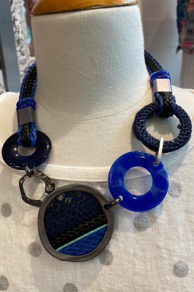 Blue Rings Necklace