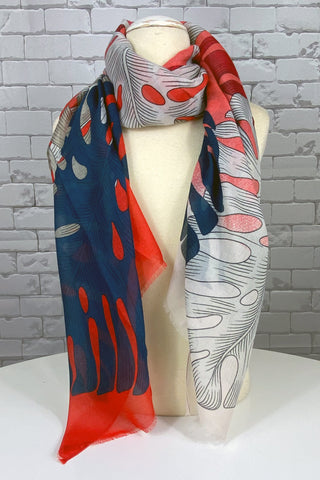 Palm Print Scarf - NEW ARRIVAL