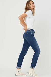 Kathleen Slim Boyfriend Jean - Feather Blue