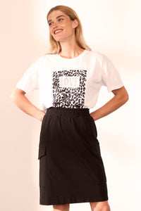 Leopard Patch T-Shirt - NEW ARRIVAL