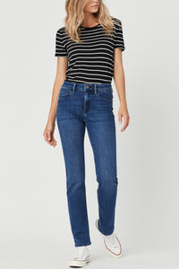 Mavi | Kendra Supersoft Straight Jeans - Mid Tonal - NEW ARRIVAL