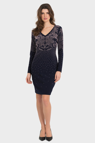 Joseph Ribkoff | Embellished Knit Dress - NEW ARRIVAL