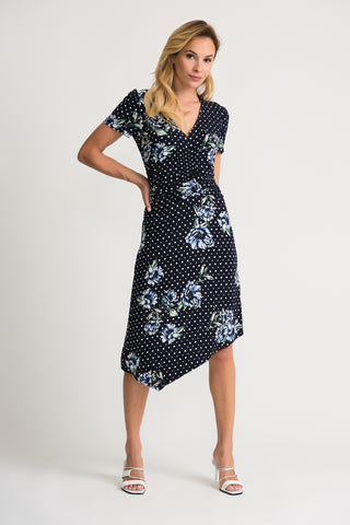 Joseph Ribkoff | Floral & Dot Dress *Summer Sale*