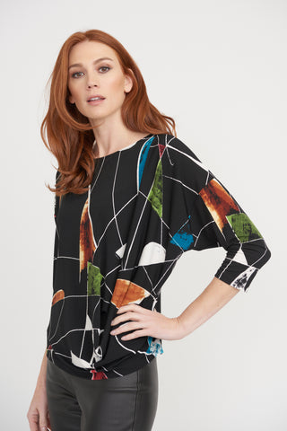 Joseph Ribkoff | Abstract Print Tunic