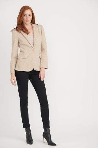 Joseph Ribkoff | Slim Pant with Pleather Trim - NEW ARRIVAL